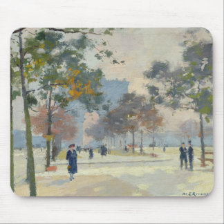 The Arc de Triomphe in Autumn, Paris Mouse Pad