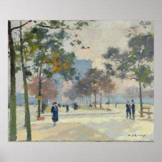 The Arc de Triomphe in Autumn, Paris Poster