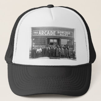 The Arcade Bowling Alley Vintage Saloon Trucker Hat