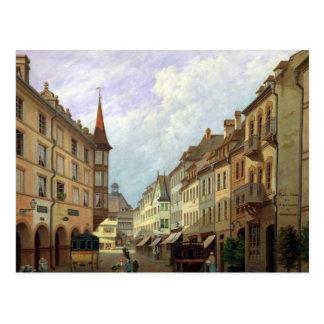 The Arcades, Grand Rue, Colmar, 1876 Postcard