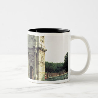 The Arch of Constantine from the North West Two-Tone Coffee Mug