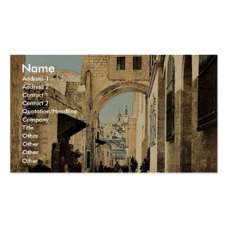 The Arch of Ecce Homo, Jerusalem, Holy Land rare P Business Card Template
