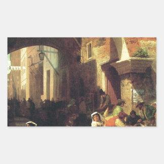 The Arch of Octavius by Albert Bierstadt Rectangular Sticker