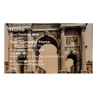 The Arch of Peace, Milan, Italy vintage Photochrom Double-Sided Standard Business Cards (Pack Of 100)
