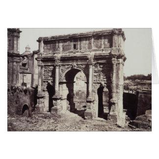 The Arch Of Septimius Severus Card