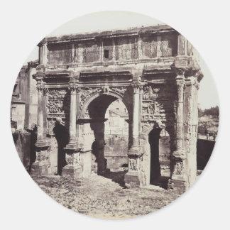 The Arch Of Septimius Severus Classic Round Sticker