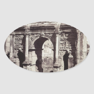 The Arch Of Septimius Severus Oval Sticker