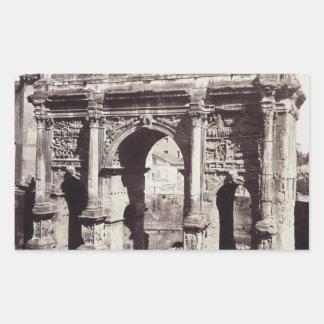 The Arch Of Septimius Severus Rectangular Sticker