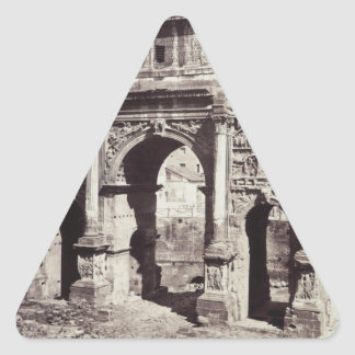 The Arch Of Septimius Severus Triangle Sticker