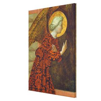 The Archangel Gabriel, c. 1430 (tempera on panel) Canvas Print