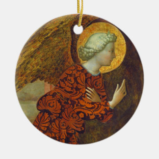 The Archangel Gabriel, c. 1430 (tempera on panel) Ceramic Ornament