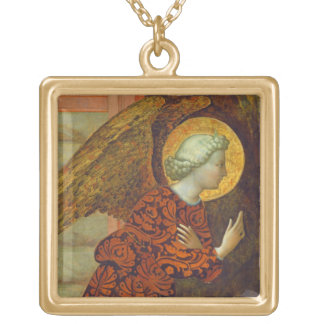The Archangel Gabriel, c. 1430 (tempera on panel) Gold Plated Necklace
