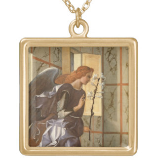 The Archangel Gabriel, from The Annunciation dipty Gold Plated Necklace