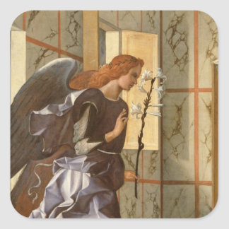 The Archangel Gabriel, from The Annunciation dipty Square Sticker