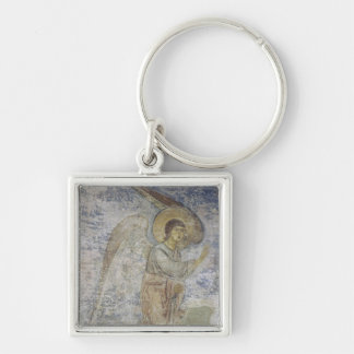 The Archangel Gabriel Silver-Colored Square Keychain