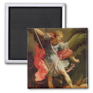 The Archangel Michael defeating Satan Magnet