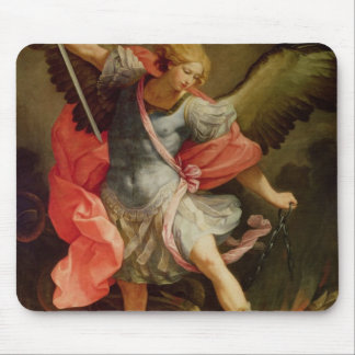 The Archangel Michael defeating Satan Mouse Pad