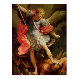 The Archangel Michael defeating Satan Postcard