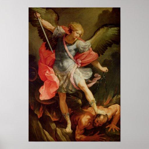 The Archangel Michael defeating Satan Print