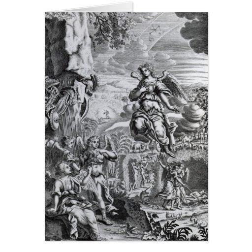 The archangel Uriel informs Gabriel Greeting Card
