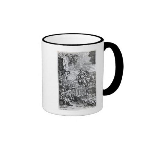 The archangel Uriel informs Gabriel Ringer Coffee Mug
