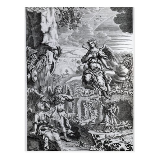 The archangel Uriel informs Gabriel Postcard