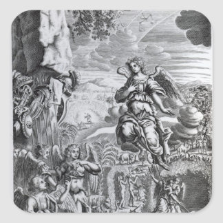 The archangel Uriel informs Gabriel Square Sticker