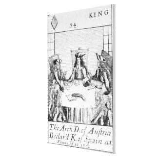 The Archduke of Austria Declared King of Spain Canvas Print