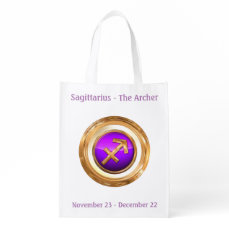 The Archer - Sagittarius Horoscope Sign Reusable Grocery Bag