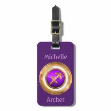 The Archer - Sagittarius Zodiac Sign Luggage Tag