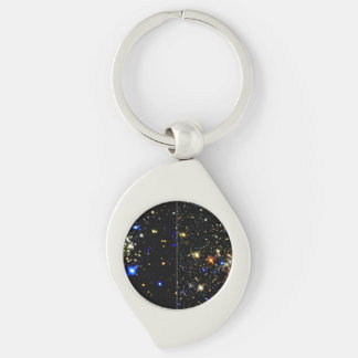 The Arches and Quintuplet Clusters Near the Milky Silver-Colored Swirl Metal Keychain