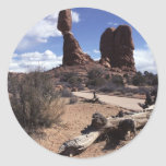 The Arches National Park, USA Round Stickers