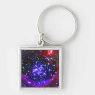The Arches star cluster deep inside the hub Silver-Colored Square Keychain