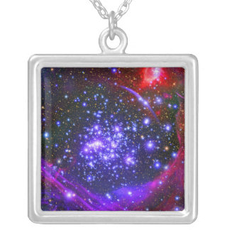 The Arches star cluster deep inside the hub Silver Plated Necklace