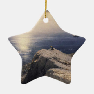 The Archipelago stones and rocks coastal scenery Ceramic Ornament