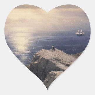 The Archipelago stones and rocks coastal scenery Heart Sticker