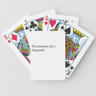 THE ARCHIVES VOL 2 BICYCLE PLAYING CARDS