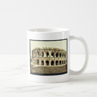 The arena, exterior, Nimes, France vintage Photoch Classic White Coffee Mug