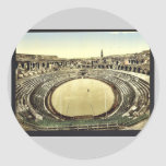 The arena, interior, Nimes, France vintage Photoch Sticker