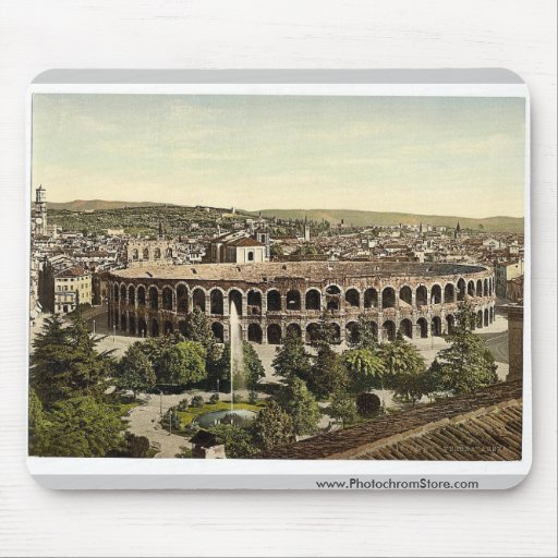 The Arena, Verona, Italy vintage Photochrom Mousepad