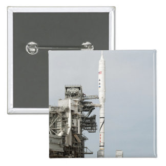 The Ares I-X rocket is seen on the launch pad 2 Pinback Buttons