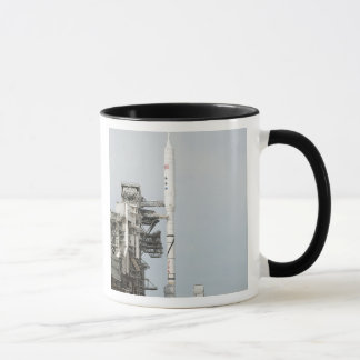 The Ares I-X rocket is seen on the launch pad 2 Mug