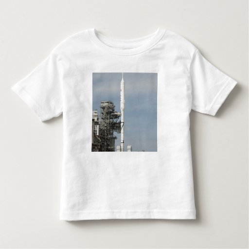 The Ares I-X rocket is seen on the launch pad T Shirts