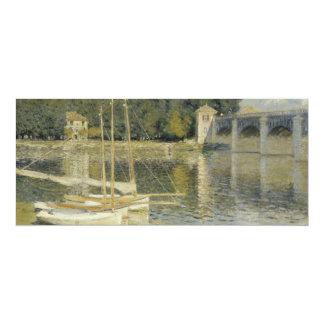The Argenteuil Bridge by Claude Monet 4x9.25 Paper Invitation Card