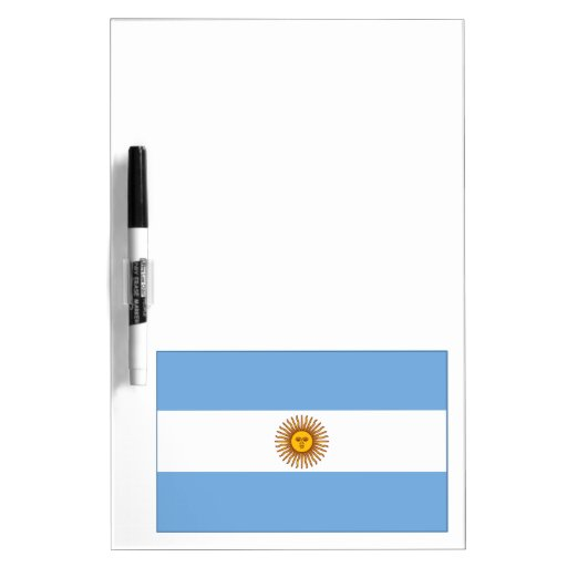 The Argentinian national flag (side) Dry-Erase Boards