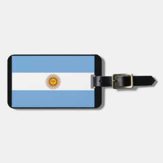 The Argentinian national flag (side) Luggage Tag
