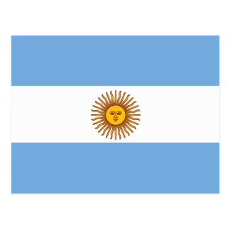 The Argentinian national flag (side) Postcard
