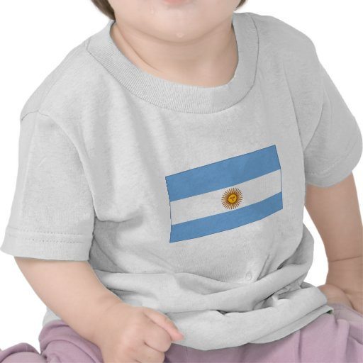 The Argentinian national flag (side) Shirts