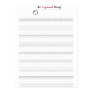 The Argument Diary - Postcard