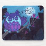 The Argyle Owl Mouse Pad